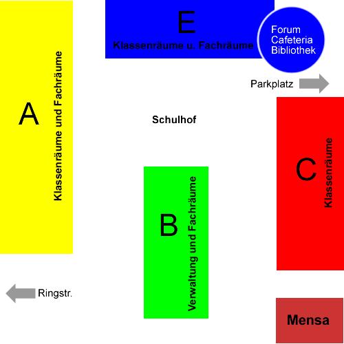 Gebäudeplan der Erich Kästner-Gesamtschule