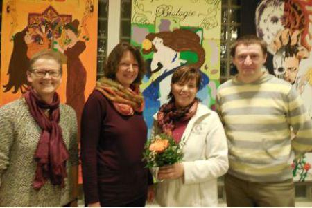 Die Vorsitzenden des Fördervereins: v.l.: Frau Steuwe, Frau Westerhold, Frau Wieck und Herr Braun
