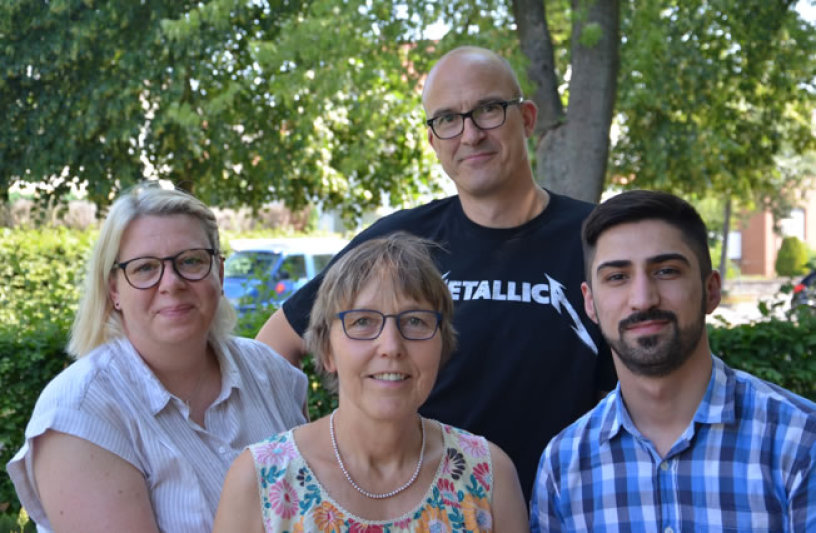 Unsere Diplom-Schulsozialpädagogen Vibeke Wellner, Susanne Möllering, Uwe Diekmannshenke und Bahver Dik (Bild v.l.)